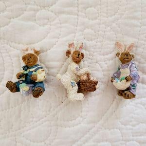 3/$15🐻🐇Mini Boyds Bears Easter Bunnies, set of 3